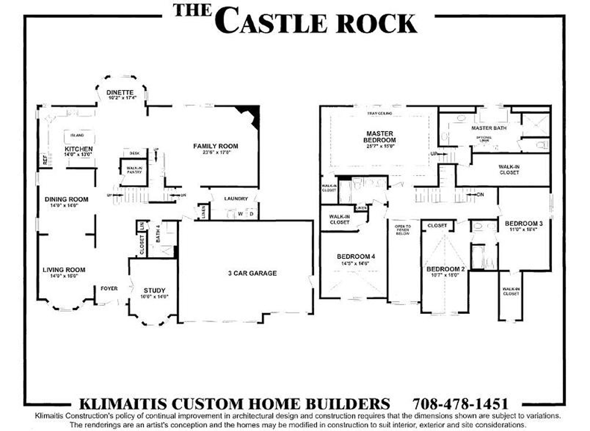the castel rock model klimaitis builders kci
