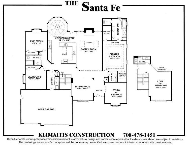 The Santafe Model Klimaitis Builders Kci
